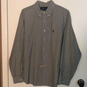 Ralph Lauren Green & White Checkered Long-sleeve